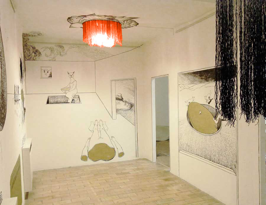 Anke feuchtenberger, mural drawing