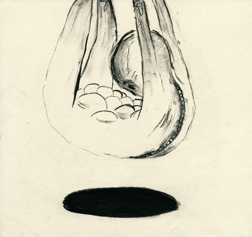 Anke Feuchtenberger, Meine liebe Toten, Zeichnung