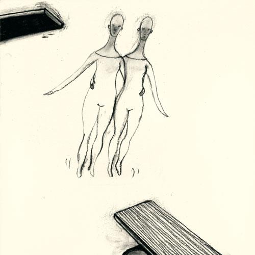 Anke Feuchtenberger, Zeichnung, Wenn mein Hund stirbt