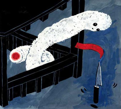 Anke Feuchtenberger,Postcard from Kyoto,Zeichnung
