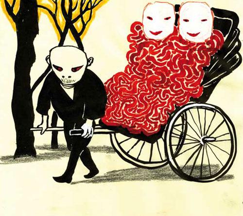 Anke Feuchtenberger,Postcards from Kyoto,Zeichnung