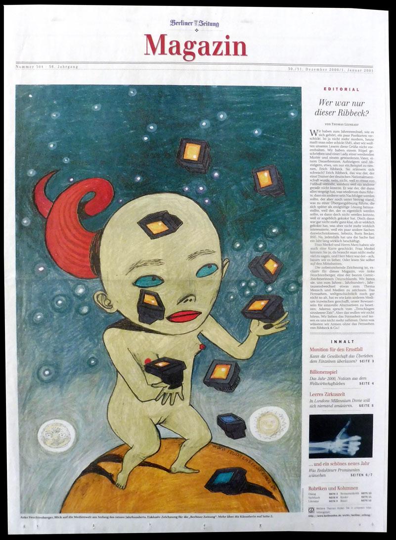Anke Feuchtenberger,Berliner Zeitung,Zeichnung