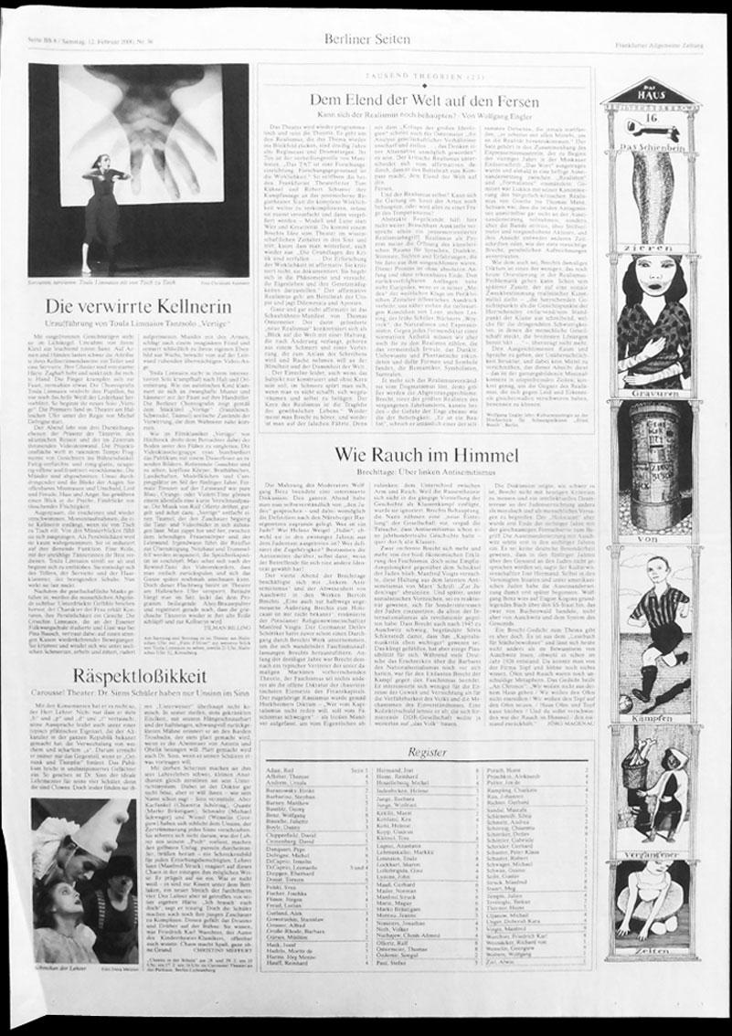Anke Feuchtenberger, Das Haus, Frankfurter Allgemeine Zeitung
