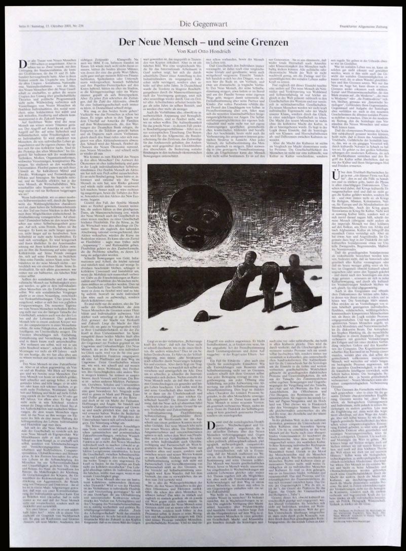 Anke Feuchtenberger, Illustration, FGrankfurter Allgemeine Zeitung